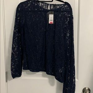 dynamite long sleeve lace top
